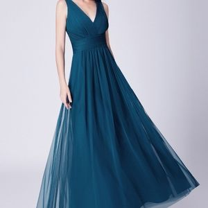 Ever-Pretty Womens Tulle Long Evening  Maxi dress